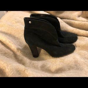 Franco Sarto Black suede booties - gently worn